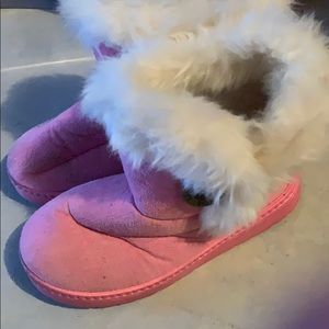 Other - Pink button boots
